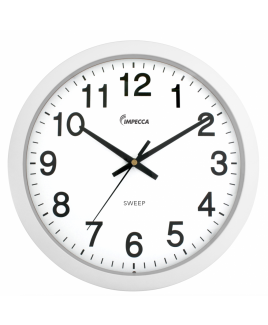 "IMPWCW104W 10"" Wall Clock, Silent Mov. White"