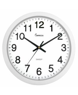 "Impecca 10"" Silent Wall Clock, White"