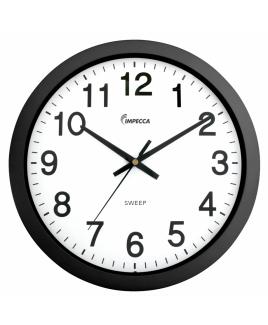 "Impecca 10"" Silent Wall Clock, Black"