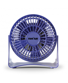 """FanFair 4"""" Personal desk Fan - Blue"""