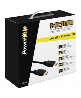 PowerItUp HD-2100 100ft. HDMI v2.0 Cable with Ethernet