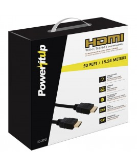 Power-It-Up 50ft. HDMI v2.0 Cable with Ethernet