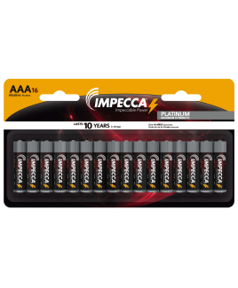 Alkaline AAA LR03 Platinum Batteries 16-Pack