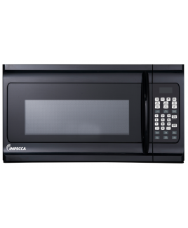 Impecca 1.6 Cu. Ft. Over the Range Microwave Oven, Black
