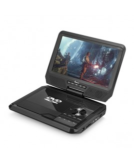 DVP-917 9in 270° Swivel Screen Portable DVD Player, Black