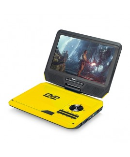 DVP-917 9in 270° Swivel Screen Portable DVD Player, Yellow