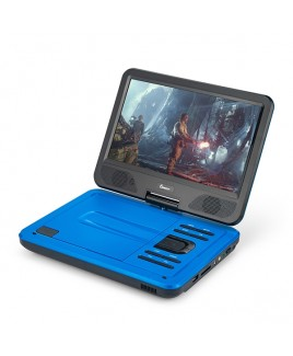 DVP-1017 10.1in 270° Swivel Screen Portable DVD Player, Blue