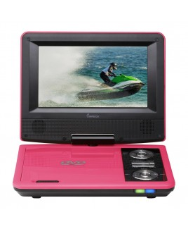 7 Inch Swivel Portable DVD Player, Pink
