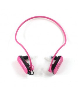Wire Free Sports 4GB Waterproof MP3 Player - Pink