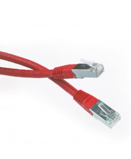 3 FT. CAT6 RJ45 Shielded Network Patch Cablee - Red
