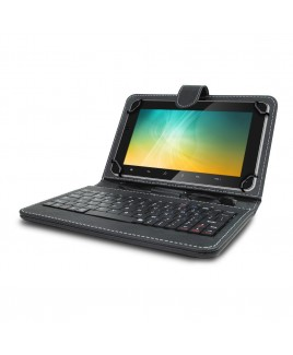Universal Mini Keyboard Case & Stand For 8 Inch Tablets - Black