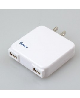 10-Watt Dual USB Power Adapter - White