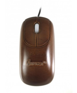 Custom Carved Designer Bamboo Mouse Espresso Color