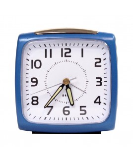 Bell Alarm Clock, Metallic Blue