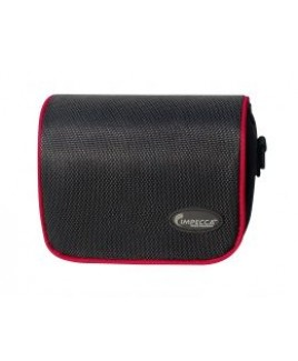 DCS100 Digital Camera Case for G10/G11 Black with Red Trim