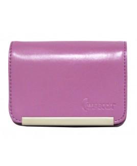 DCS86 Compact Leather Digital Camera Case - Purple