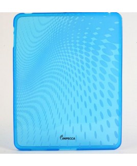 IPS120 Wave Pattern Flexible TPU Protective Skin for iPad™ - Blue