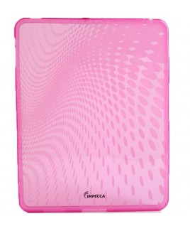 IPS120 Wave Pattern Flexible TPU Protective Skin for iPad™ - Pink