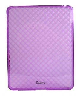 IPS121 Diamond Bubble Flexible TPU Protective Skin for iPad™ - Purple