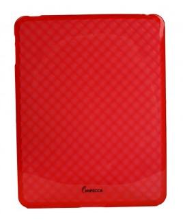 IPS121 Diamond Bubble Flexible TPU Protective Skin for iPad - Red