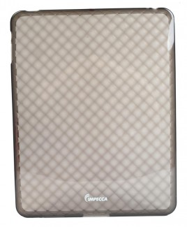 IPS121 Diamond Bubble Flexible TPU Protective Skin for iPad™ - Smoke