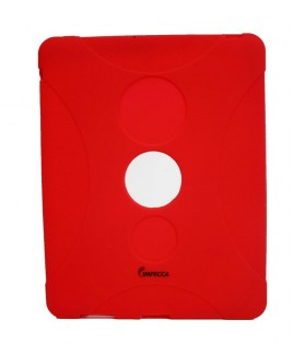 IPS130 Shock Protective Heavy Duty Rubber Skin for iPad- Red