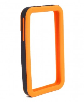 IPS226 Secure Grip Rubber Bumper Frame for iPhone 4™ <em>Dual Color</em> - Orange/Black