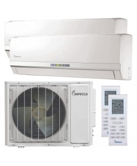 Flex Series Two Wall-Mounted Indoor Ductless Split Units, and 29,000 BTU Outdoor Unit with Inverter Technology