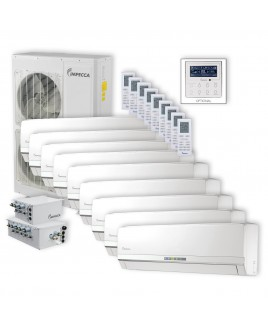 Flex Series 9 Wall-Mounted Indoor Ductless Split Units, and 52,900 BTU Outdoor Unit with Inverter Technology