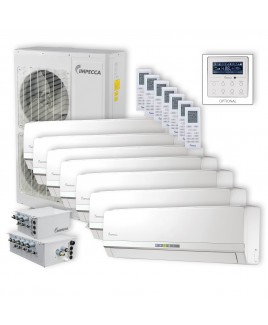 Flex Series 7 Wall-Mounted Indoor Ductless Split Units, and 52,900 BTU Outdoor Unit with Inverter Technology