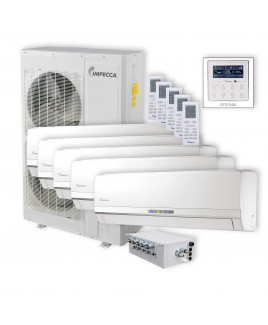 Flex Series 5 Wall-Mounted Indoor Ductless Split Units, and 52,900 BTU Outdoor Unit with Inverter Technology