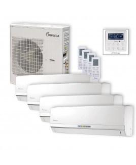 Flex Series 4 Wall-Mounted Indoor Ductless Split Units, and 39,000 BTU Outdoor Unit with Inverter Technology