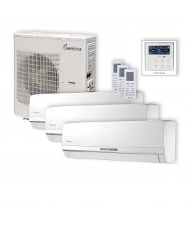 Flex Series 3 Wall-Mounted Indoor Ductless Split Units, and 39,000 BTU Outdoor Unit with Inverter Technology