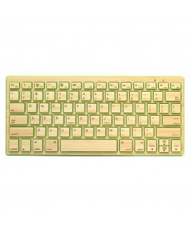 Compact Bluetooth Wireless Bamboo Keyboard, Green