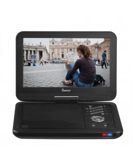 Portable DVD Player with 10.1 inch Swivel Screen - Jetblack Glaze