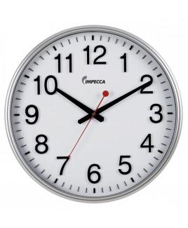 18-inch Wall Clock - Silver Frame
