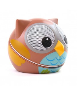 Zoo-Tunes Ogle-the-Owl Compact Portable Character Stereo Speaker