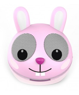 Zoo-Tunes Compact Portable Character Stereo Speaker, Razzle the Rabbit
