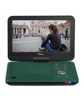 Portable DVD Player with 10.1 inch Swivel Screen - Teal