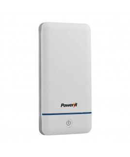 Power it 10,200mAh Portable Charger with Daul USB Output - White
