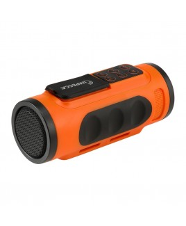 Bluetooth Bicycle Speaker with Headlight - Orange