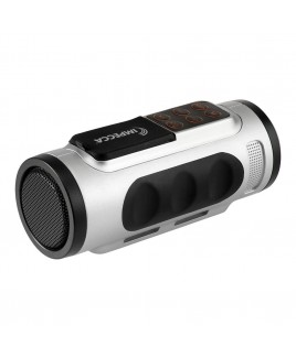 Bluetooth Bicycle Speaker with Headlight - Silver