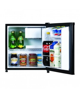 1.7 CU FT Compact Refrigerator, Stainless Look