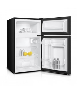 Impecca 3.1 Cu. Ft. Compact Double Door Refrigerator, Black