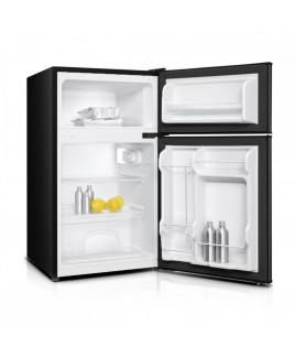 Impecca 3.1 Cu. Ft. Compact Double Door Refrigerator, Stainless Look