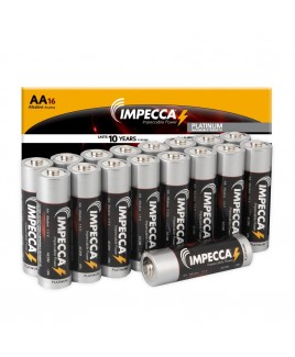 Alkaline AA LR06 Platinum Batteries 16-Pack