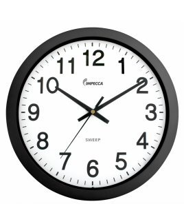 "IMPWCW104K 10"" Wall Clock, Silent Mov. Black"