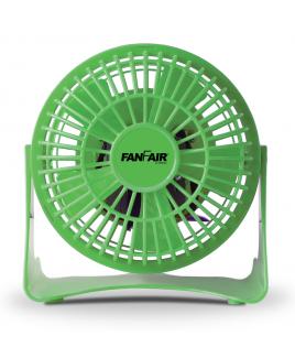 """FanFair 4"""" Personal desk Fan - Green"""