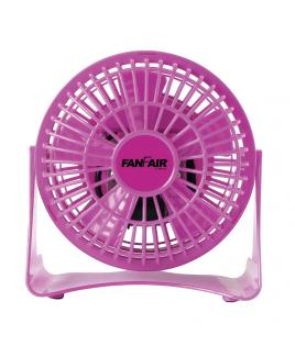 """FanFair 4"""" Personal desk Fan - Pink"""