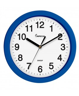 "10"" WALL CLOCK, SILENT MOV. - BLUE"